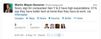 Gen Y Tweet Forrester