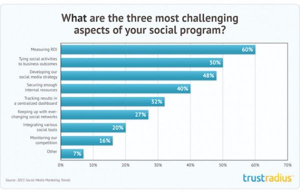 Social Media Challenges Trustradius 2015